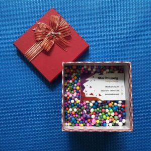 Hộp quà hạt xốp - HVX10545D - 10x10x5